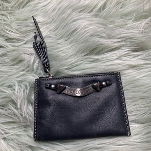 Juicy Couture Black Leather Wallet/Coin Purse